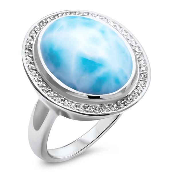 MarahLago Clarity Oval Larimar Ring