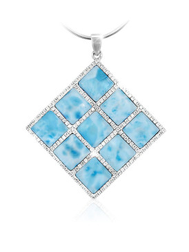 MarahLago Echo Collection 9-Stone Larimar Necklace