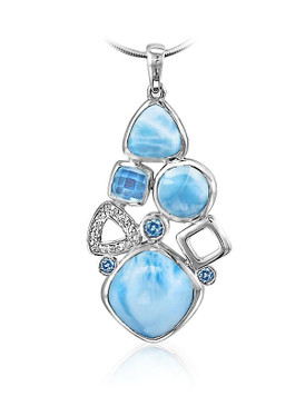 MarahLago Alexandria Collection Small Larimar Pendant