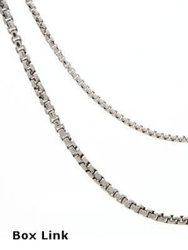 Round Box-Link Sterling Silver Chain  - choice of sizes