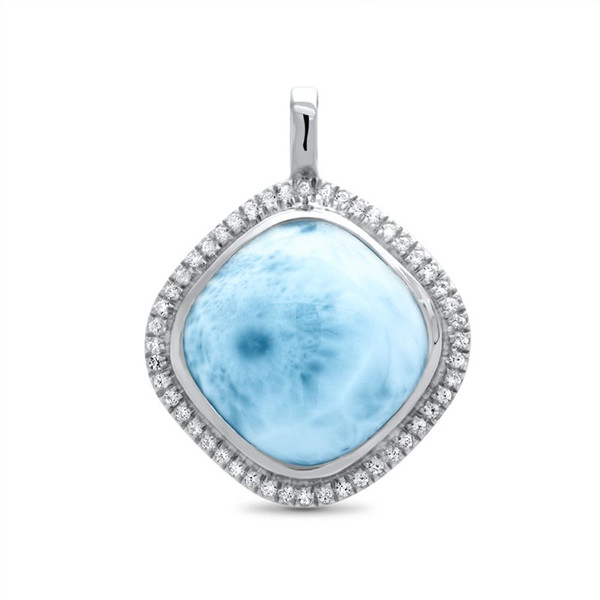 MarahLago Clarity Square Larimar Necklace