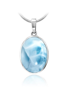 MarahLago Basics Collection Larimar Oval Necklace