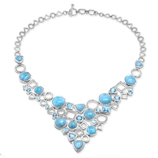 MarahLago Alexandria Large Larimar Necklace