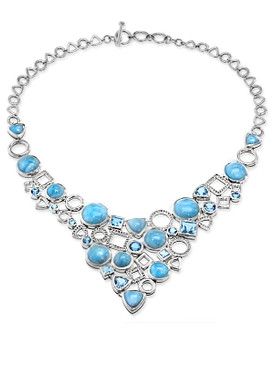 MarahLago Alexandria Collection Large Larimar Necklace