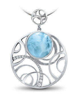 MarahLago Zara Larimar Necklace with White Sapphire