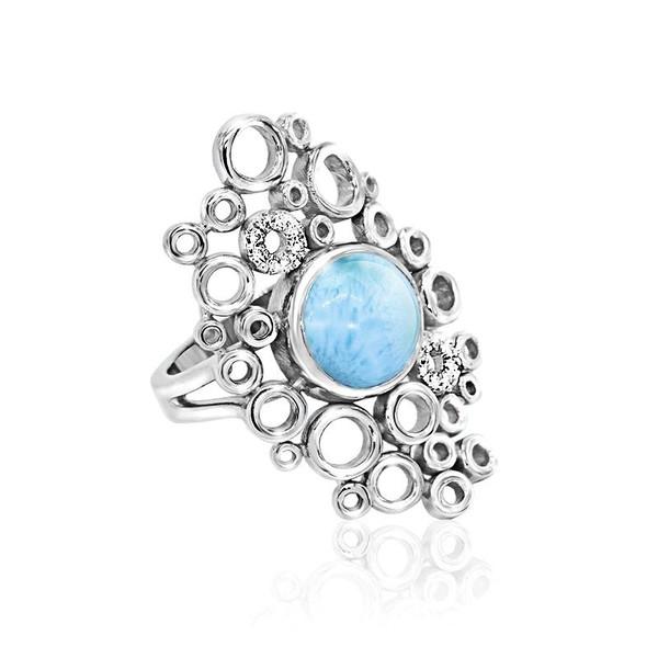 MarahLago Paradise Larimar Ring with White Sapphire