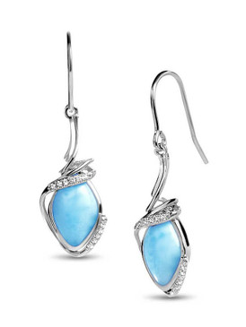 MarahLago Calypso Collection Larimar Earrings - 3x4