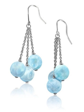 MarahLago Seafoam Collection Larimar Earrings