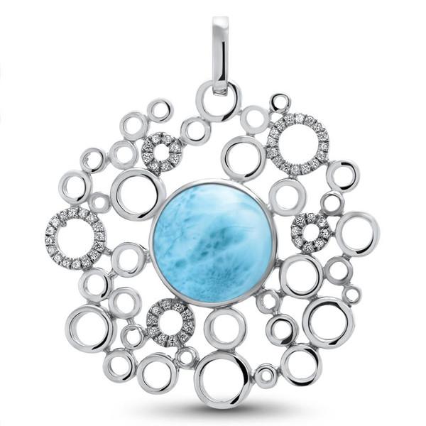 MarahLago Paradise Larimar Pendant with White Sapphire