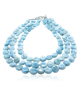 MarahLago Seafoam Collection Larimar Necklace