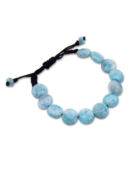 MarahLago Unisex Larimar Coin Bead Bracelet Gift-with-Purchase