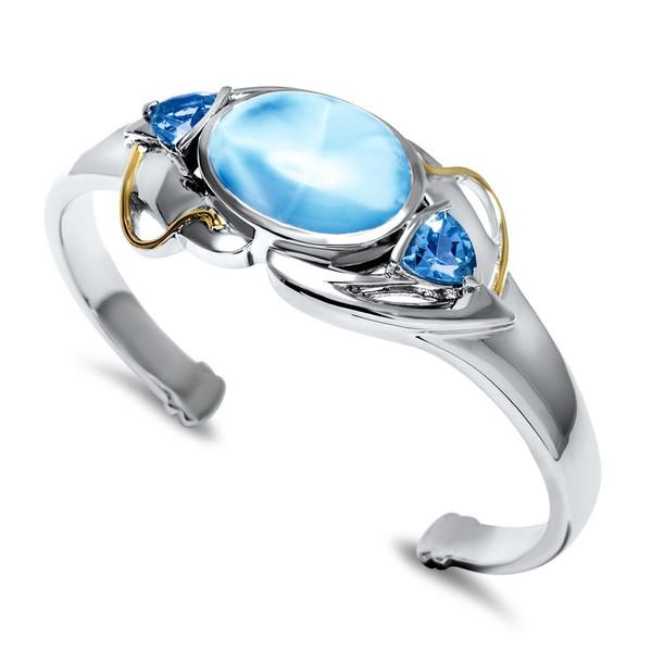 MarahLago Lena Collection Larimar Cuff Bracelet