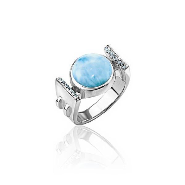 MarahLago Paris Larimar Ring with Blue Spinel