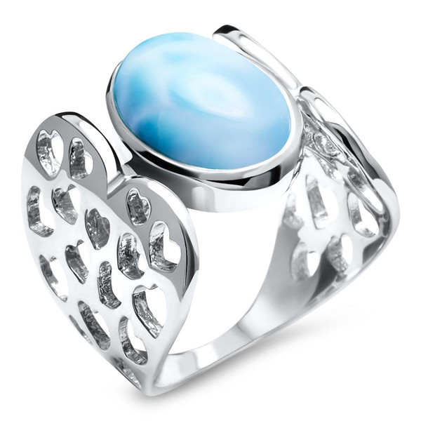 MarahLago Heart Love Larimar Ring