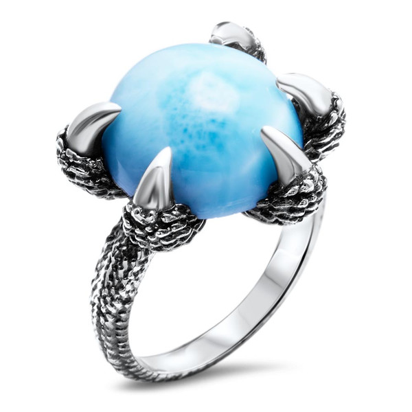 MarahLago Dragon Claw Larimar Ring