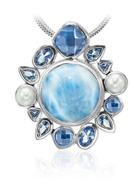 MarahLago Olympia Collection Larimar necklace - 3X4