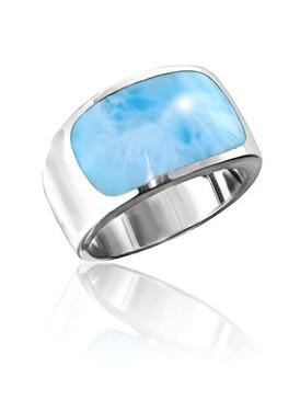 MarahLago Encore Collection Men's Larimar Ring