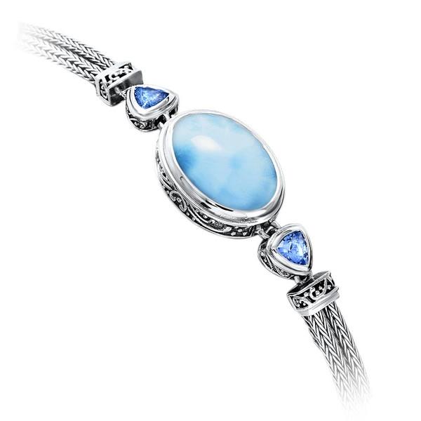 MarahLago Azure Pear Larimar Bracelet