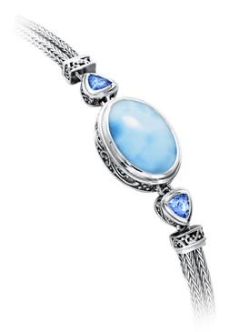 MarahLago Azure Pear Collection Larimar Bracelet