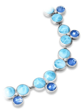 MarahLago Vienna Collection Larimar Necklace with Blue Spinel - 3x4