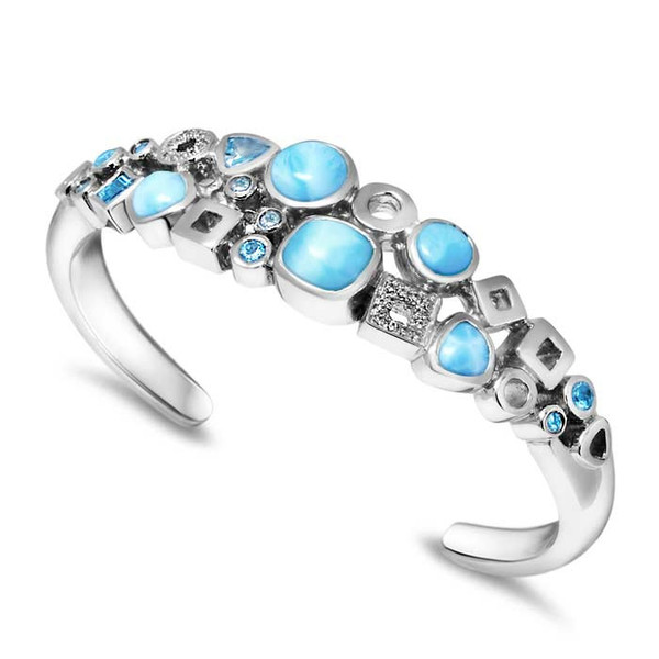 MarahLago Alexandria Larimar Cuff Bracelet