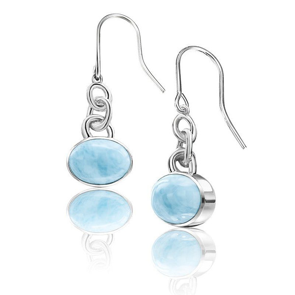 new noble casual generous recommend product earrings silver models promotion sterling the listing s explosion larimar shinning