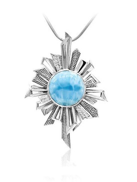 MarahLago Lumiere Larimar Pendant with White Sapphire