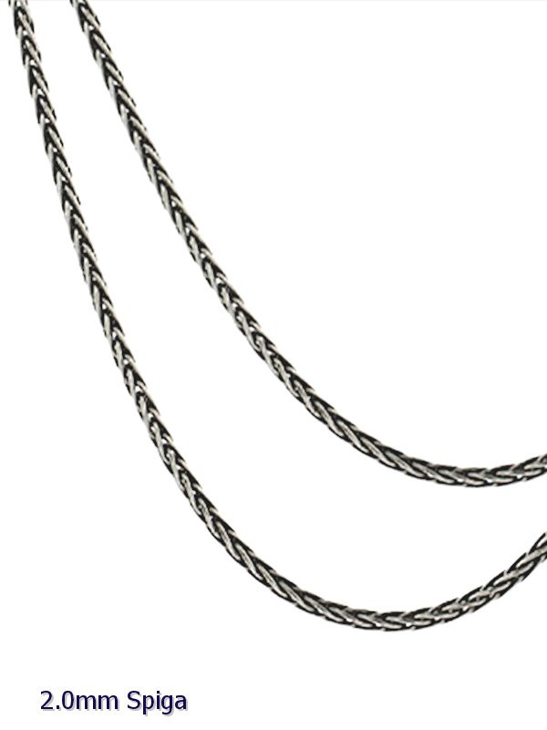 pure rope silver new necklace italy chains spiga wholesale o chain sterling wheat itm