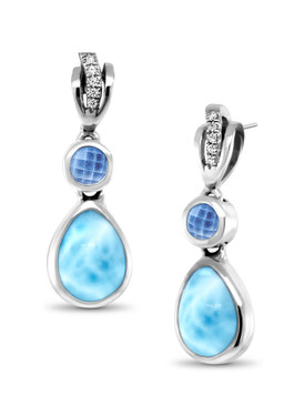 MarahLago Ariel Larimar Earrings - 3x4