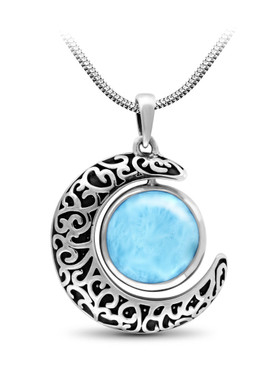 MarahLago Lunar Collection Larimar Necklace - 3x4