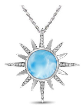 MarahLago Destiny Collection Larimar Necklace - 3x4