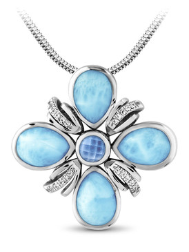 MarahLago Ariel Collection Larimar Necklace