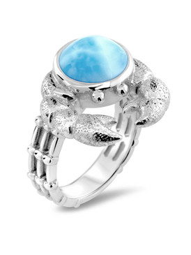 MarahLago Sealife Collection Larimar Crab Ring - 3x4