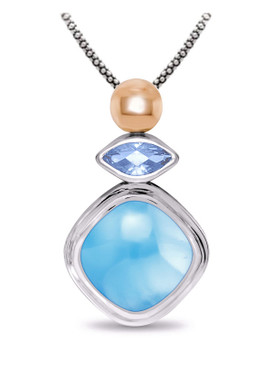 MarahLago Elena Collection Larimar Necklace - 3x4