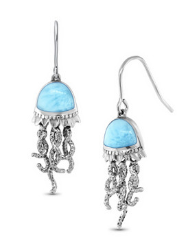 MarahLago SeaLife Collection Larimar Jellyfish Earrings - 3x4