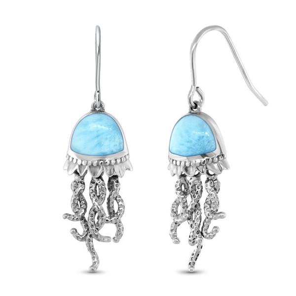 MarahLago SeaLife Collection Larimar Jellyfish Earrings