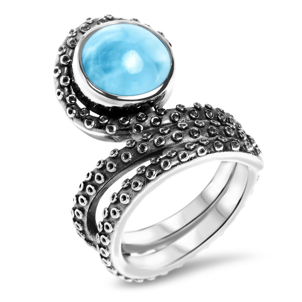 MarahLago Sealife Collection Larimar Octopus Ring