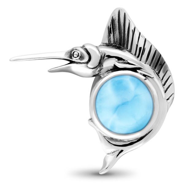 MarahLago Sealife Collection Marlin Fish Larimar Necklace
