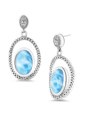 MarahLago Phoenix Collection Larimar Earrings - 3x4