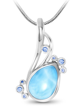 MarahLago Whisper Collection Larimar Necklace
