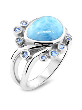 MarahLago Whisper Collection Larimar Ring - 3x4