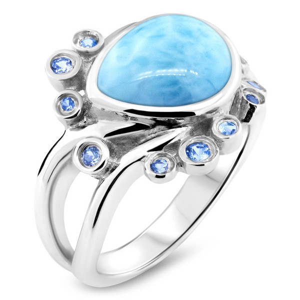 MarahLago Whisper Collection Larimar Ring
