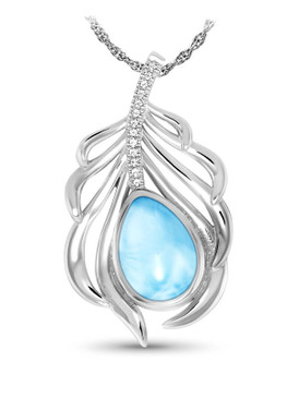 MarahLago Willow Collection Larimar Necklace - 3x4