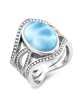 MarahLago Zeta Collection Larimar Ring - 3x4