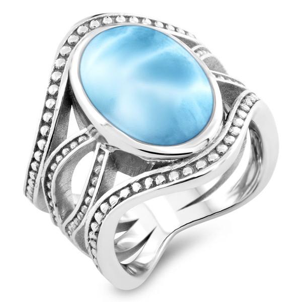 MarahLago Zeta Collection Larimar Ring