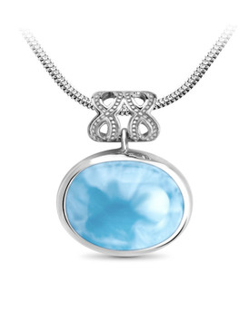 MarahLago Zeta Collection Larimar Necklace - 3x4