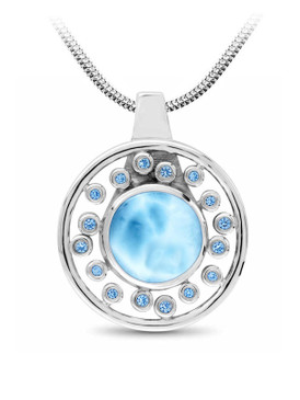 MarahLago Zion Collection Larimar Necklace - 3x4