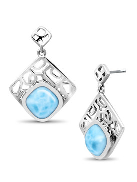 MarahLago Zara Collection Square Larimar Earring