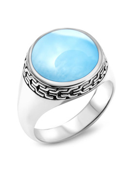 MarahLago Tonela Collection Larimar Ring - 3x4