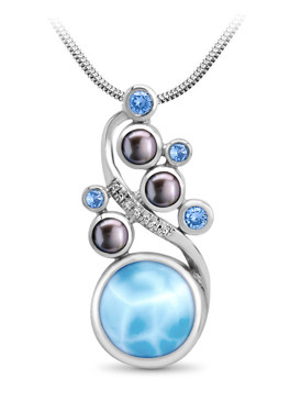 MarahLago Seascape Collection Larimar Pendant/Necklace
